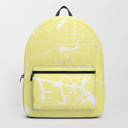 Amsterdam Yellow on White Street Map Backpack