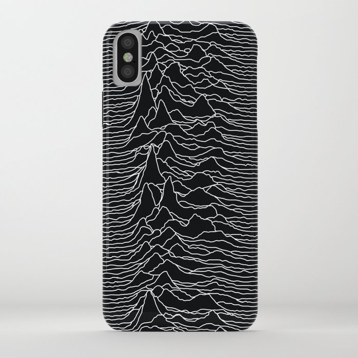 unknown radio waves - unknown pleasures iphone case