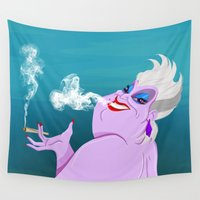 ursula Wall Tapestries featuring Stoner Ursula by Fransisqo82