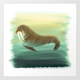 W for Walrus Art Print