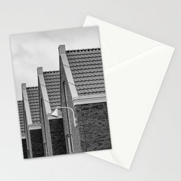 Modern city life - Vathorst Amersfoort The Netherlands photo | Repetitive pattern black and white monochrome photography art print Stationery Cards