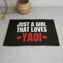 Just A Girl That Loves Yaoi Gift for Fujoshi Rug