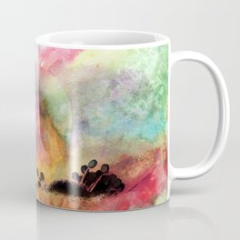 Abstract anemone one colorful watercolor Coffee Mug