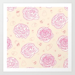 Tender roses Art Print