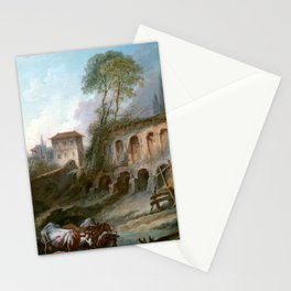 François Boucher Imaginary Landscape with the Palatine Hill from Campo Vaccino Stationery Cards