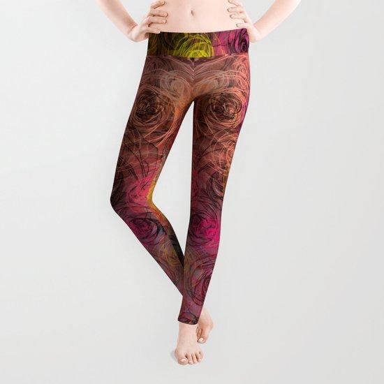 Rose flow(4). Leggings
