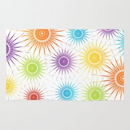 Colorful Christmas snowflakes pattern- holiday season gifts Rug