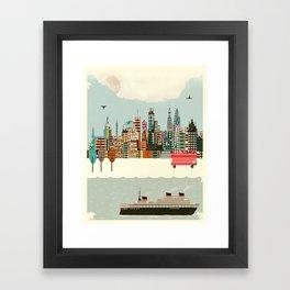 visit london city Framed Art Print