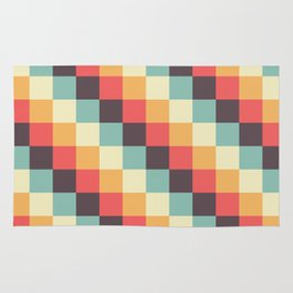 When dad was young - Pixel pattern in muted pastel colors Rug