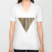records V-neck T-shirts featuring Records by Cassia Beck
