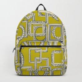 picture frames aplenty indigo chartreuse Backpack