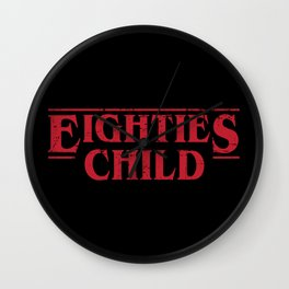 Eighties Child Wall Clock