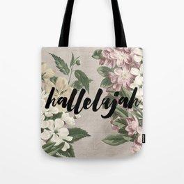 hallelujah vintage floral Tote Bag