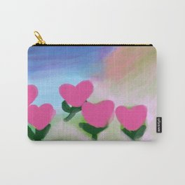 Hearts from a Rose Pink and Purple Carry-All Pouch