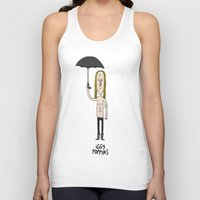 iggy Tank Tops featuring Iggy Poppins by Levedad