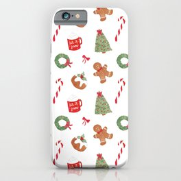 Christmas Holiday Pattern iPhone Case