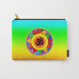 Ohm with Chakra Colours Carry-All Pouch