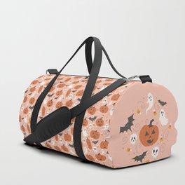 Pumpkin Party on Blush Pink Duffle Bag