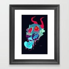 pink skull goop Framed Art Print