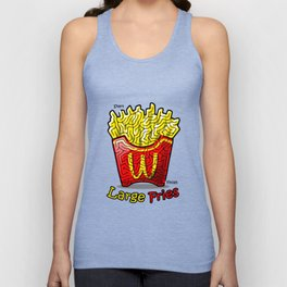 Maze Shirts: Large Fries Unisex Tank Top