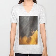 Flames in the Dark (abstract) Unisex V-Neck