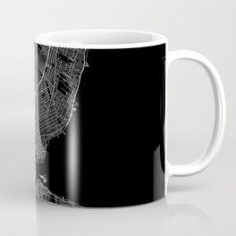 Detroit Black Map Coffee Mug