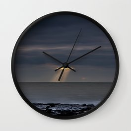 Cutting Storm Clouds Wall Clock