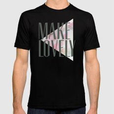 Make Lovely // Stone MEDIUM Black Mens Fitted Tee