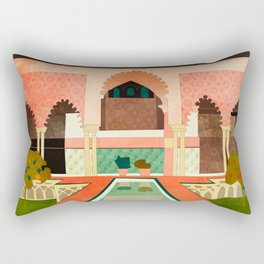 Travel Europe Spain abstract shape art Rectangular Pillow