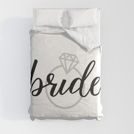 Bride with Diamond Ring (White Gold) Comforters