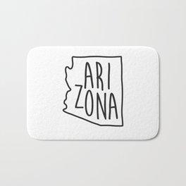 Arizona Map Print Bath Mat