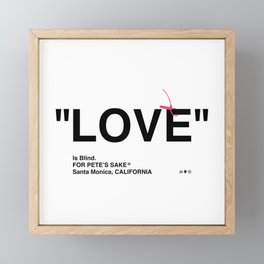 """""""LOVE"""" Framed Mini Art Print"""