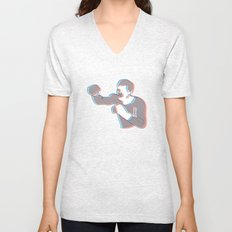 Boxing Ali (coulour) Unisex V-Neck