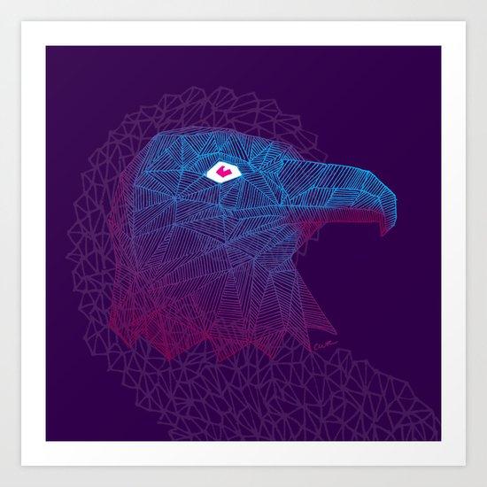 Titanium eagle Art Print