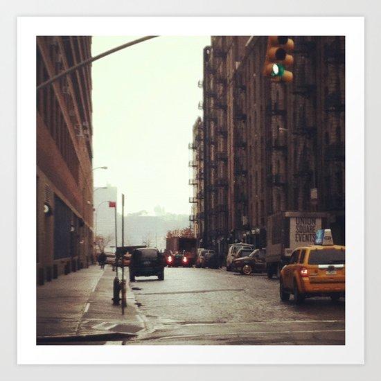 Rainy Day NYC Art Print