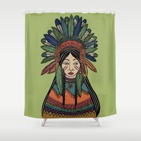 mother Shower Curtains featuring Mother by Iria Prol