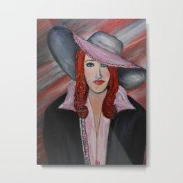 Red Haired Woman Metal Print