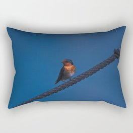 A Swallow On A Rope In The Marina Rectangular Pillow