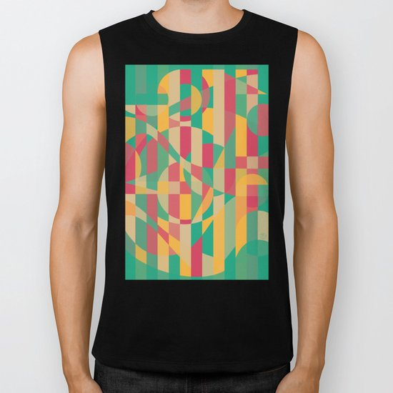 Abstract Graphic Art - Contemporary Music Biker Tank