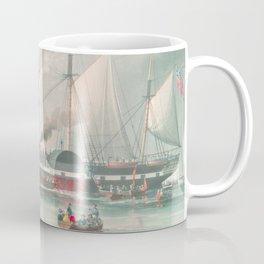 Vintage Illustration of The President's Steamship (1840) Coffee Mug