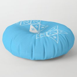Blue Unrolled D20 Floor Pillow