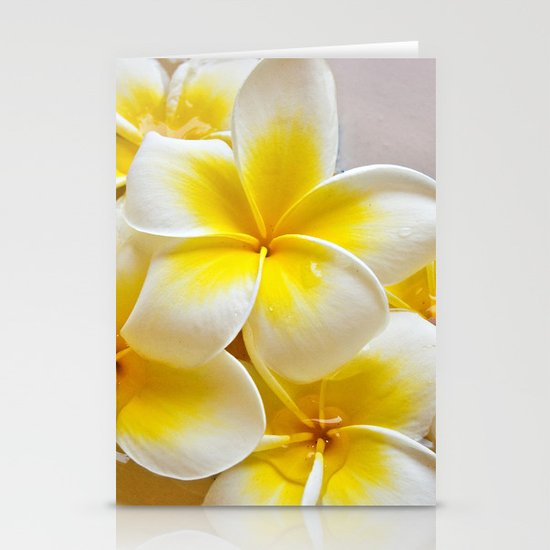 Plumeria Blossoms Stationery Cards