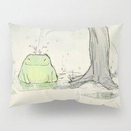 The frog under the rain Pillow Sham