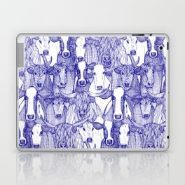 just cattle blue white Laptop & iPad Skin