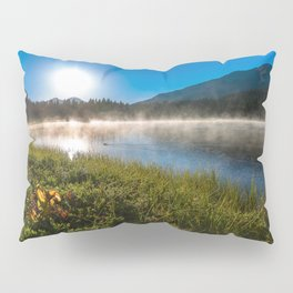 Morning Glory - Duck Swimming in Mountain Lake in Colorado Pillow Sham
