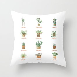 House Plants Throw Pillow