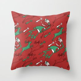 Santa Express Throw Pillow