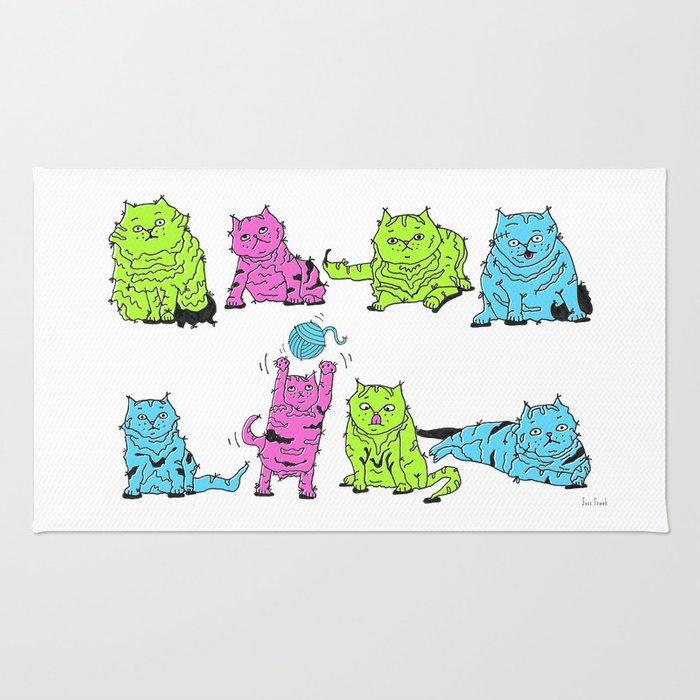 Fluro Cats Rug