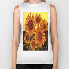 sunflowers family Biker Tank