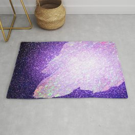 Purple Glitter Rug